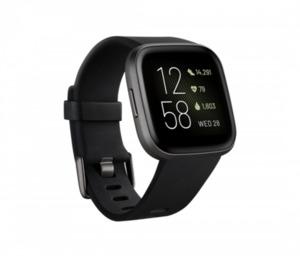 fitbit Smartwatch, Versa 2 (NFC), schwarz/carbon ,  integrierte Sprachsteuerung