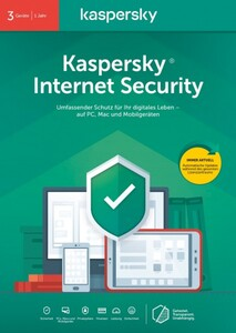 Kaspersky Software Internet Security ,  3 Geräte (Code in a Box)