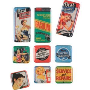 """Magnet-Set """"Best Garage"""", 9-teilig"""