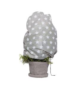 Videx Vlieshaube Sternchen, 110 cm, grau-weiß