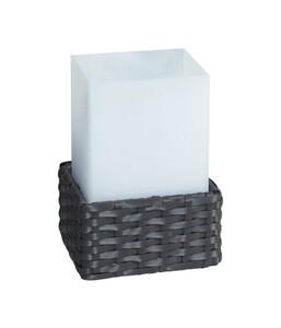 Dehner Solarleuchte Rattan Cube