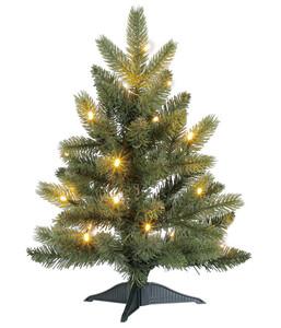 Dehner Künstlicher Weihnachtsbaum Tanne 'Espen' mit LED-Beleuchtung