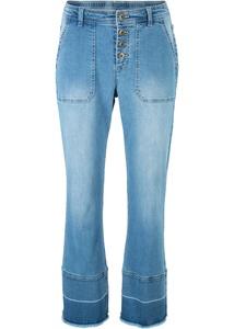 Stretch-Jeans, weit geschnitten