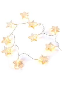 LED-Lichterkette Stern mit Klammer