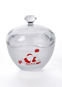 Glasdose Santa mit Geschenken