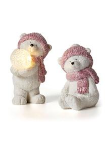 LED-Deko-Eisbären, 2er-Set