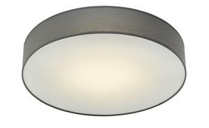 LED-Deckenleuchte, mit Stoffschirm grau