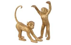 Kaemingk - Affe in gold Antik, 44 cm