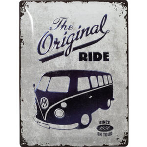 Blechschild VW Ride        Special Edition metallic, 30x40cm