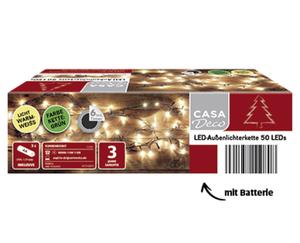 CASA Deco LED-Außenlichterkette/ -schweif mit Batterien