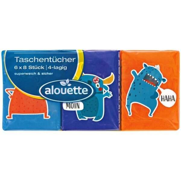 alouette Pocket-Taschentücher Monster