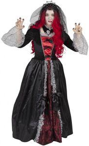 Kostüm - Vampirkönigin - für Erwachsene - 2-teilig - verschiedene Größen
