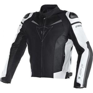 Dainese            Super Speed Textiljacke schwarz/weiß 48