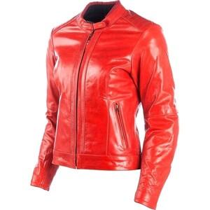 DXR            Charlize Damen Lederjacke rot crunch 34