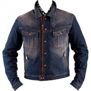 Helstons            Cannonball Dirty Textiljacke blau XXL