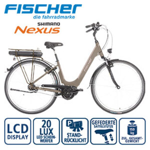 Alu-Elektro-Citybike CITA 3.0 28er - Fahrunterstützung bis ca. 25 km/h - Li-Ionen-Akku mit hochwertigen Markenzellen 36 V/11 Ah, 396 Wh - Reichweite: bis ca. 100 km (je nach Fahrweise) - Drehgriffsc