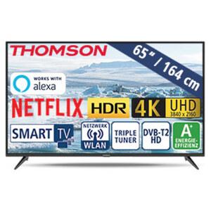 "65""-Ultra-HD-LED-TV 65UD6306 • HbbTV • 3 HDMI-/2 USB-Anschlüsse, CI+ • Stand-by: 0,24 Watt, Betrieb: 118 Watt • Maße: H 85 x B 146,5 x T 7,8 cm • Energie-Effizienz A+ (Spektrum A++ bis"