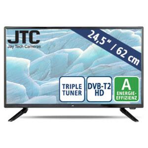 "24,5""-FullHD-LED-TV Atlantis 2.4FHD • 2 USB-Eingänge, HDMI-/CI+-Anschluss • Stand-by: 0,5 Watt, Betrieb: 22 Watt • Maße: H 33,4 x B 56,7 x T 8,5 cm • Energie-Effizienz A (Spektrum A++ bis"