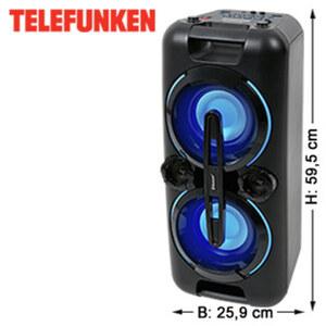 Bluetooth®-Party- Lautsprecher BS1017 mit Radio • Super-Bass-Effekte • 2 USB-/Mikrofon-Anschlüsse • 3,5-mm-Klinken-Anschluss • integr. Akku