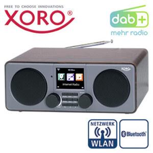 DAB+-WLAN-Internet-Radio DAB 600 IR V3 mit Bluetooth® • 12 Watt RMS • 7,1-cm-TFT-Farb-Display • 2 Weckzeiten, Wettervorhersage • MP3-Streaming, USB-/Aux-Anschluss