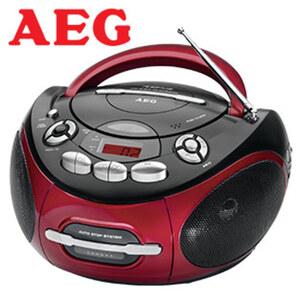 Stereo-CD-Radio SR 4353 • CD-Player, MP3, Kassettenplayer • 2-Band-Tuner, Aux-In • Netz- oder Batteriebetrieb