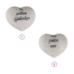 Grabschmuck Herz 9,5 x 8,5 x 4,5 cm in versch. Varianten