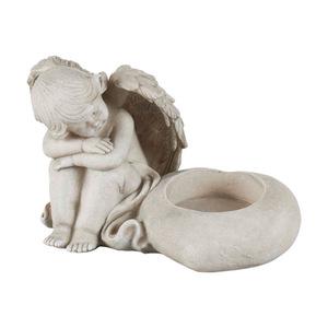 Grabschmuck Engel für Grablicht 18 x 10 x 11,5 cm