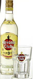 Havana Club Añejo 3 Años + 1 von 3 Sammelgläsern On-Pack | 40 % vol | 0,7 l