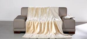 Dreamtex Luxus-Decke Pelzimitat, ca. 150 x 200 cm - Creme