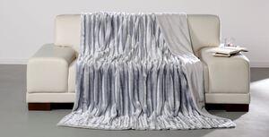 Dreamtex Luxus-Decke in Nerzfelloptik, ca. 150 x 200 cm - Silbergrau