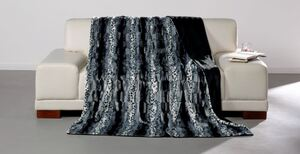 Dreamtex Luxus-Decke in Nerzfelloptik, ca. 150 x 200 cm - Leo