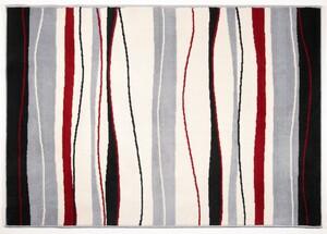 Bella Casa Teppich Amira ca. 140 x 200 cm, Grau Streifen