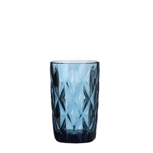 Boulogne Glas blau - h13xd8cm