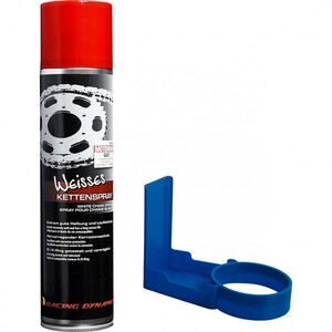 Racing Dynamic            Weisses Kettenspray 400ml + Sauber Sepp