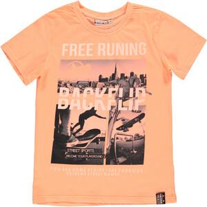 Jungen T-Shirt in Neonfarbe und Print