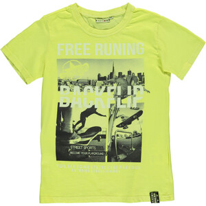 Jungen T-Shirt in Neonfarbe mit Print