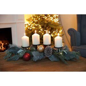 Adventsgesteck mit 4 Kerzenhaltern 84x40x14cm
