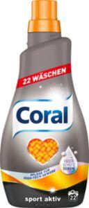 Coral flüssig Waschmittel Sport Aktiv 22WL