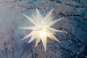 Dekor LED Leuchtstern in 3D Optik - weiß