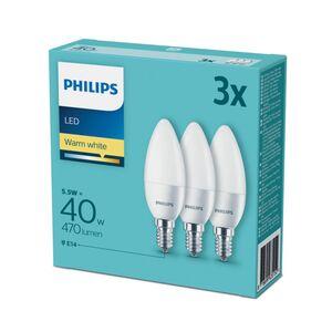 Philips LED 3er Set - Kerze E14 40W