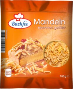Backfee Mandeln gestiftet 100g