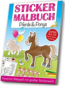 Mal-/Stickerbuch - Pferde & Ponys