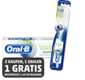 ORAL B Zahnfleisch Purify* oder Zahncreme Purify