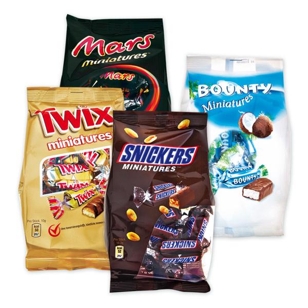 Bounty/Twix/Mars/Snickers Miniatures