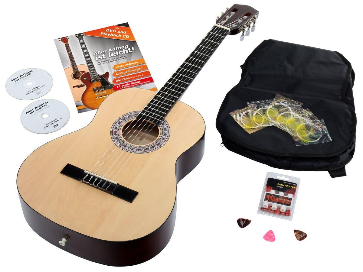 Bild 1 von Calida Benita Konzertgitarre Set 7/8 Natur mit Zubehör