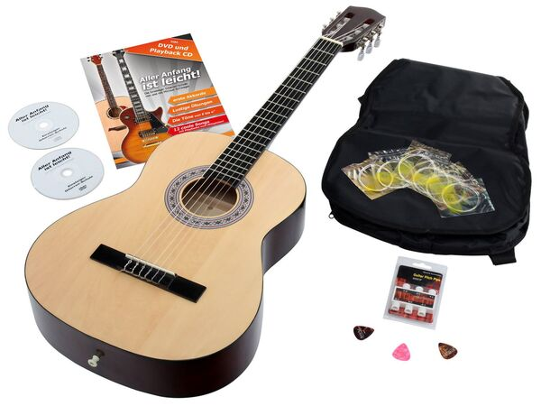 Calida Benita Konzertgitarre Set 7/8 Natur mit Zubehör