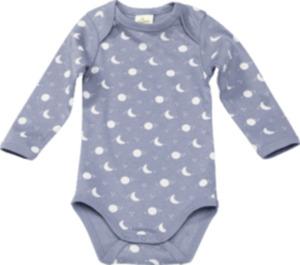 ALANA Baby Body, Gr. 86/92, in Bio-Baumwolle, blau, weiß, Mond