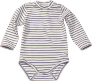 ALANA Baby Body, Gr. 86/92, in Bio-Baumwolle und Elasthan, weiß, blau, für Mädchen und Jungen