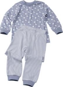 ALANA Kinder Schlafanzug, Gr. 104, in Bio-Baumwolle, blau, weiß, für Mädchen und Jungen