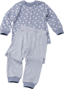 ALANA Kinder Schlafanzug, Gr. 98, in Bio-Baumwolle, blau, weiß, für Mädchen und Jungen